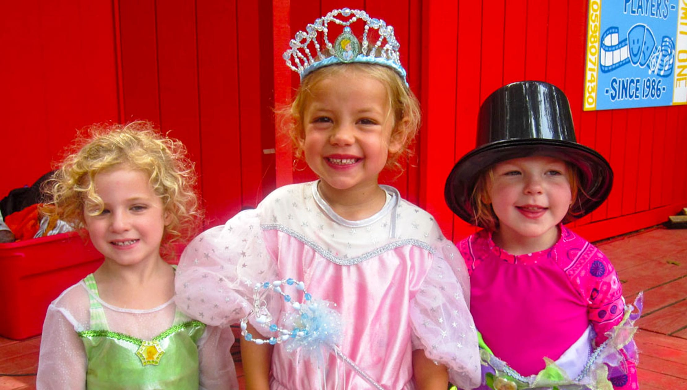 Kids in costume during drama activity