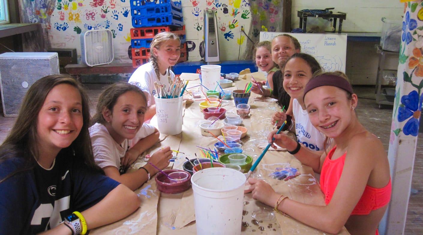 Girls at ceramics